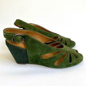 Like New Jeffrey Campbell Two-Tone Green Suede 6.5